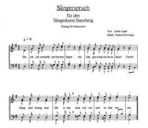 Sängerspruch Sängerkreis STA Männerchöre Version